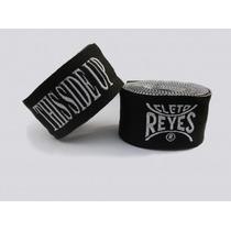 Par De Vendas Cleto Reyes Con Cierre De Velcro. Color Negro