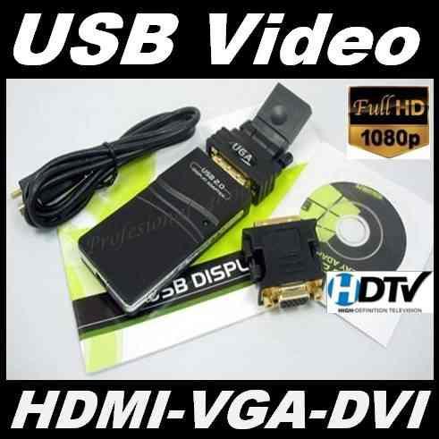 A17 Convertidor Usb A Hdmi Vga Y Dvi, Pc Laptop Monitor Tvhd