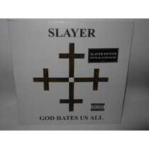 Slayer Lp Vinil Acetato God Hates Us Metallica Megadeth