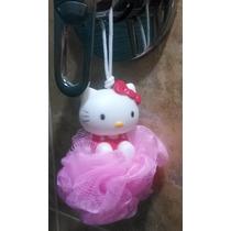 Mini Esponja O Sacate Para Baño De Hello Kitty Con Su Forma