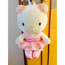 Kitty Bailarina Peluche Backpack, Impecable, Grande