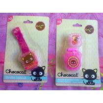 Hello Kitty Lote De Brillos Labiales De Chococat
