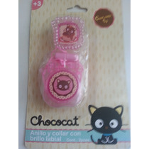 Chococat Anillo Y Brillo Labial Hello Kitty!