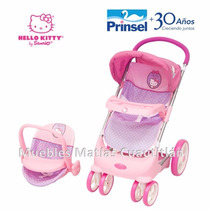 Carriola Con Porta Bebe Muñecas Hello Kitty Prinsel