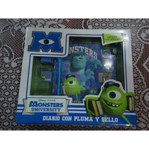 Diario Monsters University D Disney Nvo Empacado 6 Pzas