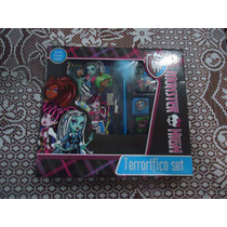Diario Terrorifico De Monster High Nvo Empacado 7 Pzas
