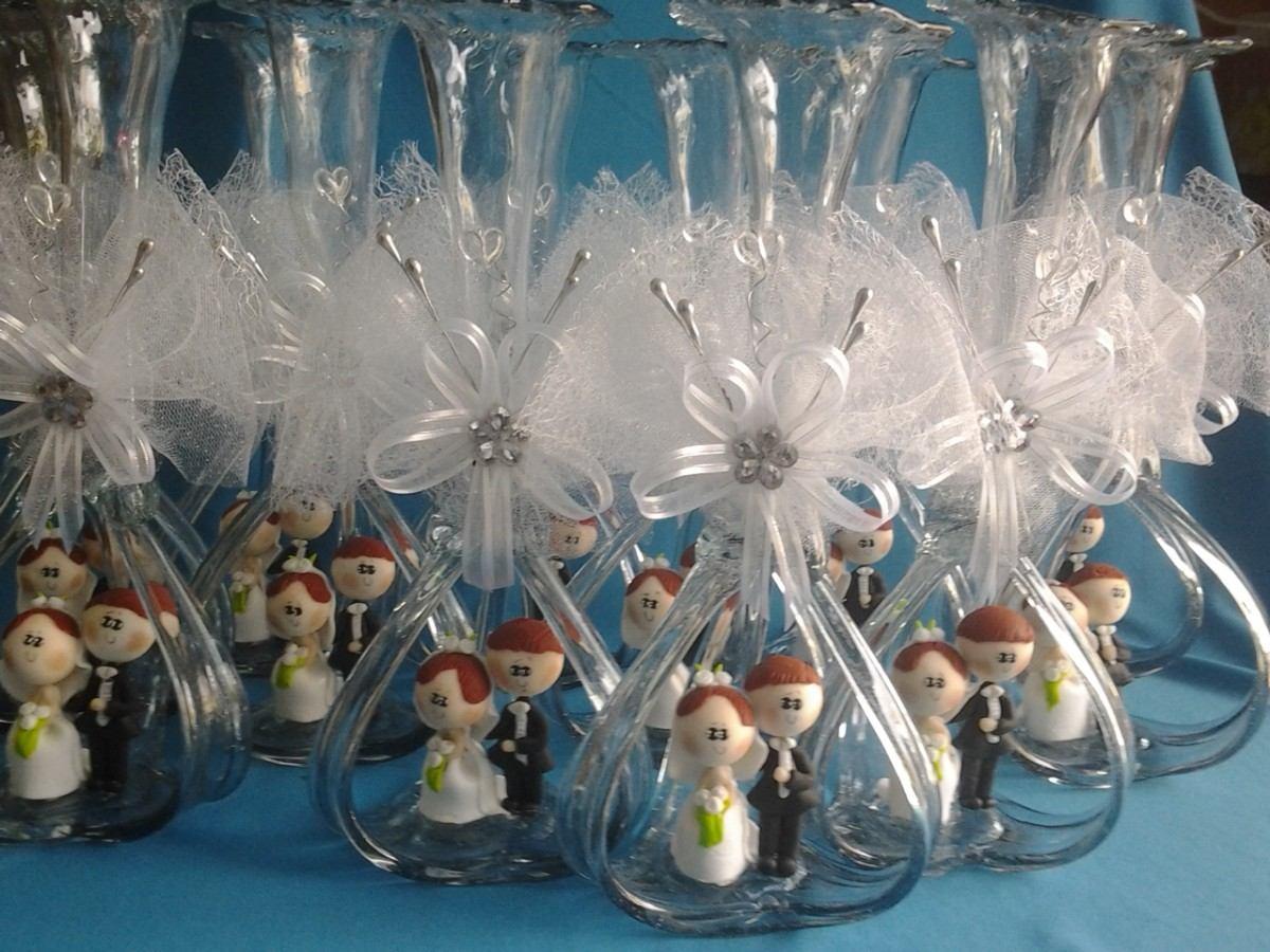 Hermoso centro de mesa boda florero vidrio soplado novios for Mesas de centro en vidrio