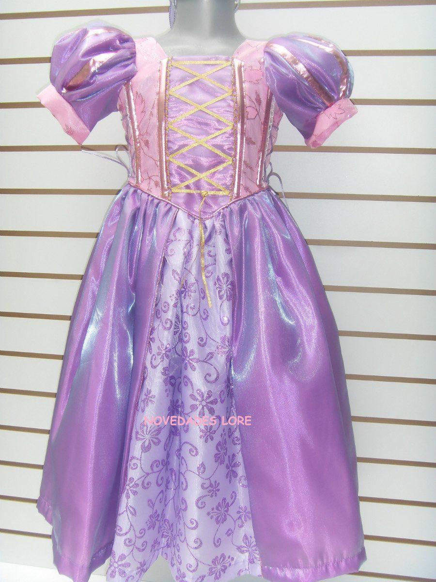 Hermoso Vestido Rapunzel Para Niña Disfraz Tangled Enredados ...