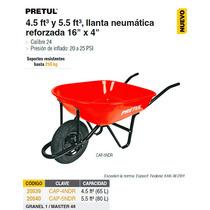 Carretilla 4 Ft Llanta Neumatica Reforzada Pretul Roja