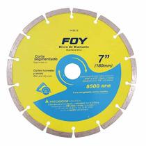 Discos De Diamante Segmentados 7pulg 8500rpm Foy 143513 Hm4