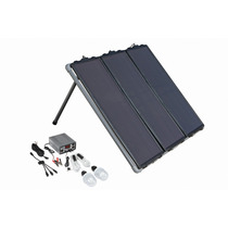 Kit Sistema Panel Solar 45w Regulador Energia Luz Focos Usb