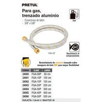 Manguera Flexible Aluminio P/ Gas 3/8 X 60 Cm