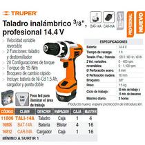 Taladro Inalambrico 14.4v 3/8 Profesional