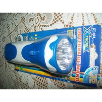 Gcg Lampara Linterna De Mano Recargable De 4 Leds Azul Mdn