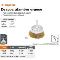 Carda De Copa Alambre Grueso 2-3/4 Para Taladro