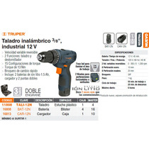 Taladro Inalambrico 12v 3/8 Industrial