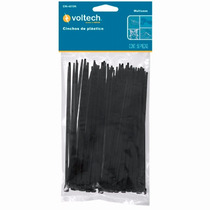 50 Cinchos De Plastico Negros De 20cm 40lb Voltech 44324