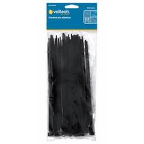 25 Cinchos De Plastico Negros De 50 Cm 50 Lb Voltech 44331