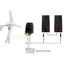 Eco-digna 24 Voltios 700 Vatios Viento Sistema De Energía So