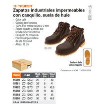 Zapato Industrial Cafe Con Casquillo No. 26