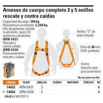 Arnés De Cuerpo Completo 5 Anillos Posicionamiento, Rescate