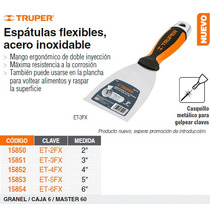 Espatula Flexible 2 Acero Inoxidable