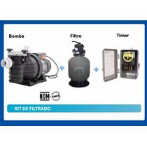Sistema Kit Filtrado Albercas Piscinas Bomba Filtro Timer