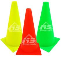 Conos De Seguridad Vial Neon 25cm Señalamiento Deportivo
