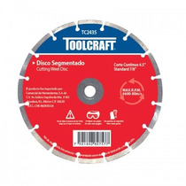 Disco Diamante Segmentado 4-1/2 Toolcraft