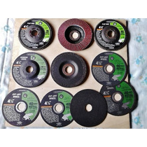 Pkt De 10 Discos De 4 1/2 Corta Metal Desbasta Y Lija I