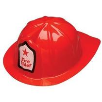 Jefe Bombero Sombrero Plástico Niño (juego De 12)