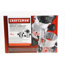 Router Craftsman 2 Hp, 6 Velocidades, Entrada 1/2 Y 1/4