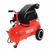 Compresor Horizontal 2 Hp Tanque 40 Litros Wolfox