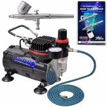 Mini Compresora De Aire Portatil Master Airbrush + Aerografo