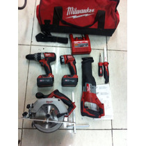 Combo Milwaukee Rotomartillo Sable Sierra Lampara Etc Nuevo