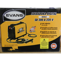 Soldadora Digital Evans 200a 220v Correa Portatil Dmm