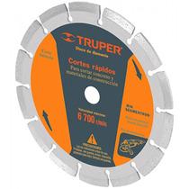 Disco Rin Segmentado Cortes Rapidos 4 1/2 Pulg Truper 11582