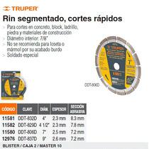 Disco De Diamante Rin Segmentado Diametro 4-1/2