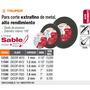 Disco Corte Extrafino De Metal 9 Espesor 2mm