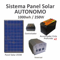 Panel Solar Autónomo Generador Solar Isla 1000wh Diario
