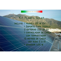 Kit Planta Tipo Isla Energía Solar