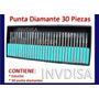 30 Puntas De Diamante Mini Taladro Accesorios Dremel Motool