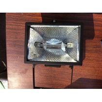 Excelente Reflector Negro Con Filamento De Cuarzo 500w Nuevo