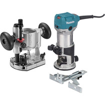 Makita Router Rebajadora Doble Base Vel Variable 1-1/4 Hp