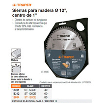 Sierra Circular P/madera 12 40 Dientes Centro 1