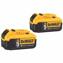 Set De Baterias (2 Pcs) Dewalt Dcb205-2 Xr 5.0 Ah Litio 20v