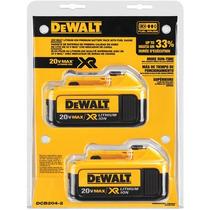 Set De Baterias (2 Pcs) Dewalt Dcb204-2 Xr 4.0 Ah Litio 20v