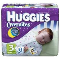 Huggies Overnites Pañales Tamaño 3 Paquetes De 31-count (paq