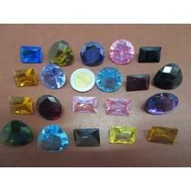 Lote De 20 Piedras Sinteticas Para Joyeria Y Adorno Colores.