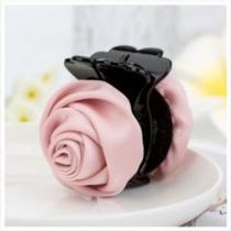 Presilha De Pressão Para Cabelo Com Flor Rosa Clara